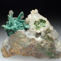 Cerussite & Malachite Psm Azurite & Calcite