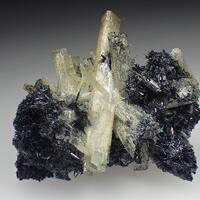 Aquamarine Fluorite & Schorl