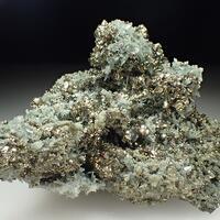 Quartz Var Prase & Pyrite