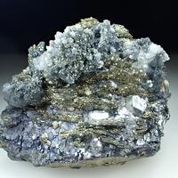 Pyrite Psm Pyrrhotite With Galena Calcite & Boulangerite