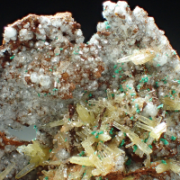 Willemite Mimetite & Malachite