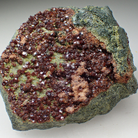 Grossular Var Hessonite & Diopside