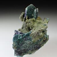 Quartz & Malachite Psm Azurite