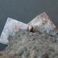 Fluorite On Goethite Psm Siderite