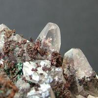 Native Copper With Calcite