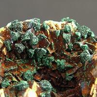 Malachite On Chalcopyrite & Dolomite