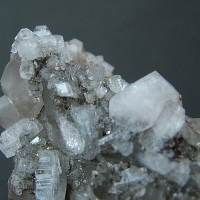 Harmotome With Calcite