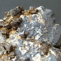 Galena With Pyrite On Dolomite