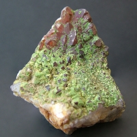 Quartz With Pyromorphite