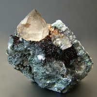 Smoky Quartz With Hematite