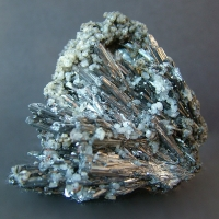 Stibnite With Calcite