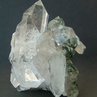 Quartz With Byssolite Inclusions