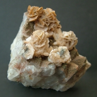 Calcite On Ferruginous Quartz