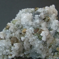 Chalcopyrite On Apophyllite
