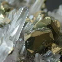 Chalcopyrite With Rock Crystal