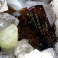 Zircon & Astrophyllite & Aegirine