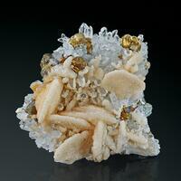 Calcite Quartz & Chalcopyrite