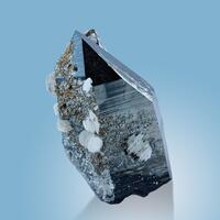 Smoky Quartz With Calcite & Pyrite