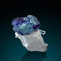 Fluorite Feldspar Group Aquamarine & Quartz