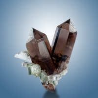 Smoky Quartz & Adularia