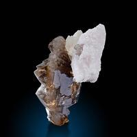 Calcite & Smoky Quartz