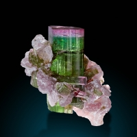 Tourmaline Lepidolite & Quartz