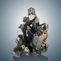 Smoky Quartz Scheelite & Chalcopyrite