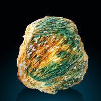Baryte Malachite & Calcite