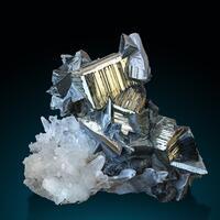 Pyrite Tetrahedrite & Quartz