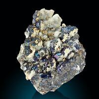 Sphalerite Calcite & Chalcopyrite