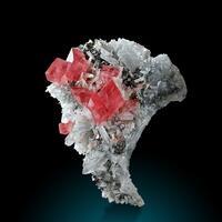 Rhodochrosite Tetrahedrite & Quartz