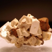 Titanite With Magnetite & Apatite On Orthoclase