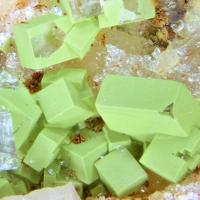 Chenevixite & Fluorite