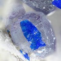 Linarite & Fluorite