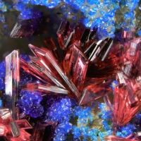 Erythrite On Azurite