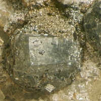Gaidonnayite On Dolomite With Fluorapatite