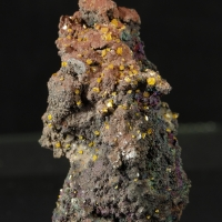 Wulfenite On Limonite With Turgite