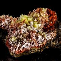 Crocoite With Dundasite & Cerussite