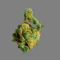 Malachite On Native Copper