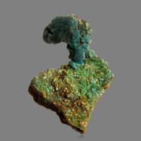 Wulfenite On Chrysocolla Psm Malachite Psm Azurite