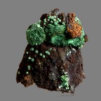 Wulfenite On Malachite Psm Azurite