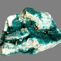 Dioptase With Chrysocolla Psm Gypsum