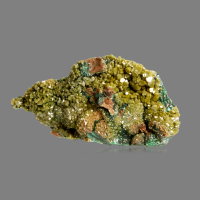 Pyromorphite On Malachite