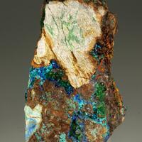 Lavendulan With Conichalcite & Azurite