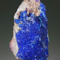 Azurite On Baryte