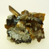 Smoky Quartz With Hyalite Opal