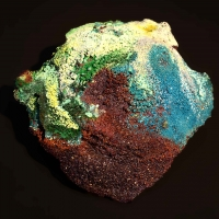 Cuprite & Langite On Copper