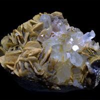 Aquamarine With Fluorapatite & Muscovite
