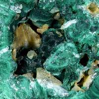 Cerussite & Pyromorphite On Malachite