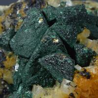 Chalcopyrite & Malachite On Dolomite